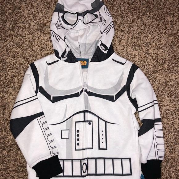 NWT Boy baby StarWars Darth Vader Hoodie Jacket W Mask Sweat Shirt Size 12 month